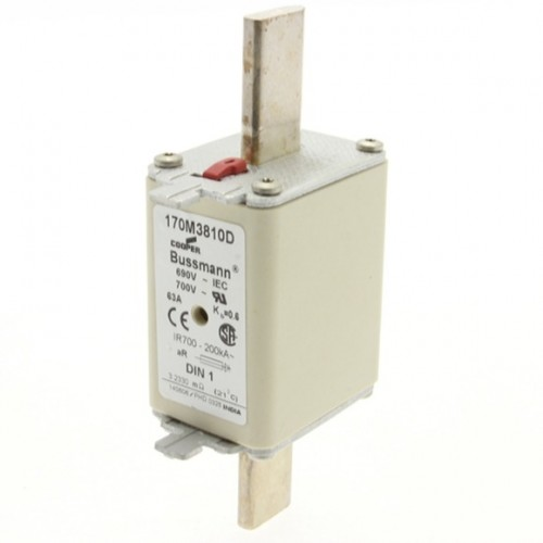 Fusível Ultrarrápido - Contato Faca Lisa - NH1 63A Bussmann