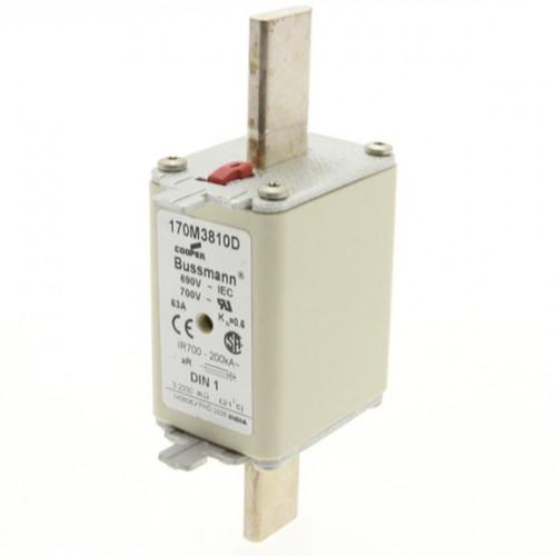 Fusível Ultrarrápido - Contato Faca Lisa - NH1 125A Bussmann
