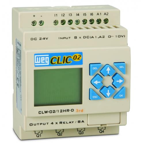 Controladores Lógico Programáveis (CLP) WEG - Clic02 - CLW-02 12HR-D 3RD