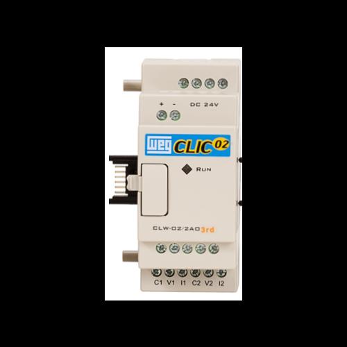 Unidade de Expansão (CLP) WEG - Clic02 - CLW-02 2AO