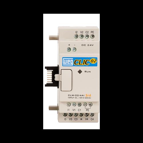 Unidade de Expansão Analógica (CLP) WEG-Clic02 - CLW-02 4AI