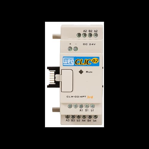 Unidade de Expansão Analógica (CLP) WEG-Clic02 - CLW-02 4PT