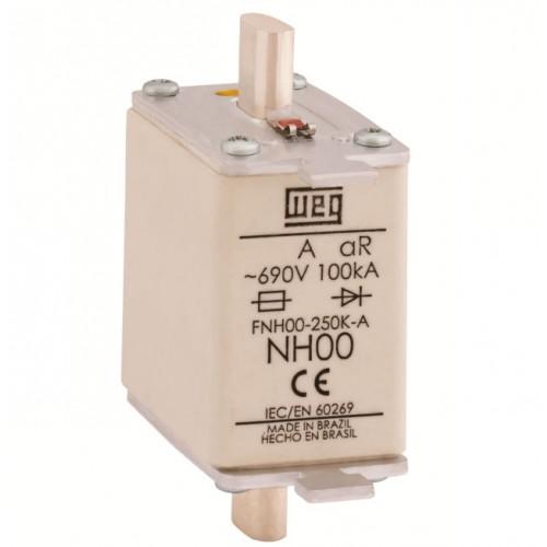 Fusível Ultrarrápido - Contato Faca - FNH00-25K-A WEG