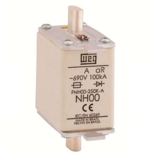 Fusível Ultrarrápido - Contato Faca - FNH00-35K-A WEG
