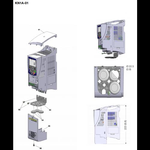 Kit NEMA 1 - tamanho A (padrão para versão N1) CFW500-KN1A