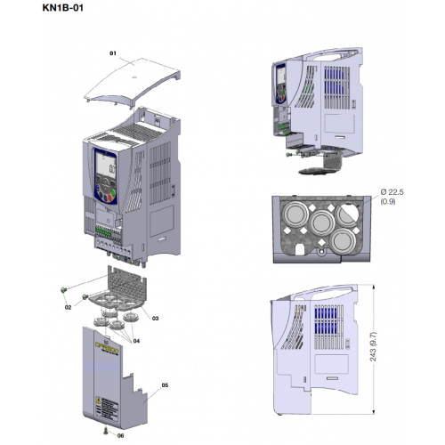 Kit NEMA 1 - tamanho B (padrão para versão N1) CFW500-KN1B