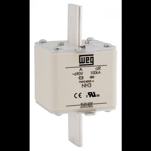 Fusível Ultrarrápido - Contato Faca - FNH3-800K-A WEG