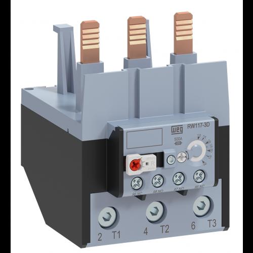 Relé de Sobrecarga Térmico Tripolar WEG - RW117-3D3-U140