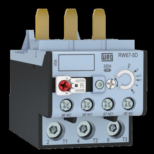 Relé de Sobrecarga Térmico Tripolar WEG - RW67-5D3-U080